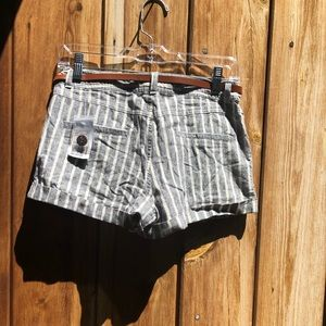 Forever 21 Shorts - Forever 21| Striped Shorts w/ Belt